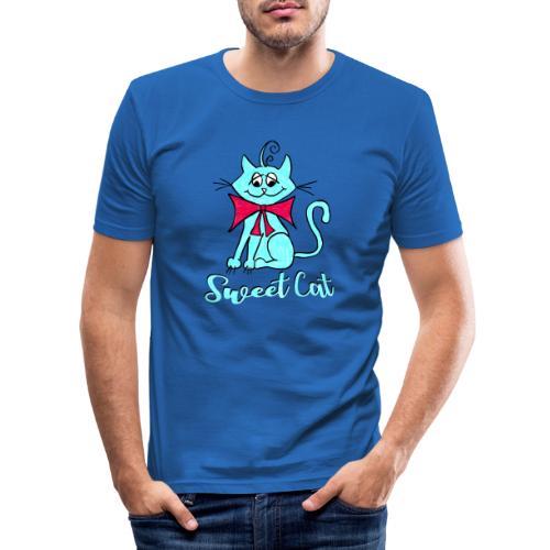 Niedliche kleine blaue Katze, Sweet! - Männer Slim Fit T-Shirt