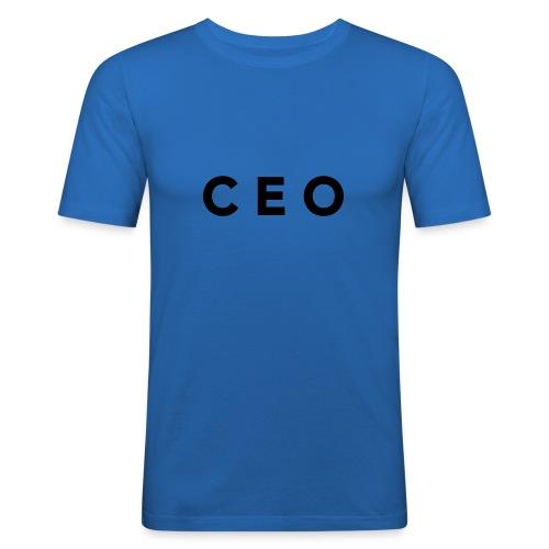 CEO LOGO BLACK - Men's Slim Fit T-Shirt