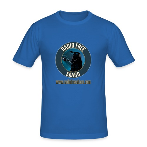Radio Free Skaro Logo 2011 navy png - Men's Slim Fit T-Shirt