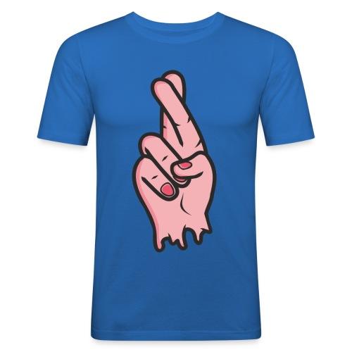 FINGERS CROZZED png - Men's Slim Fit T-Shirt