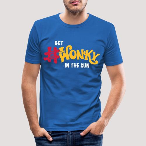 Wonky in the sun - Men's Slim Fit T-Shirt