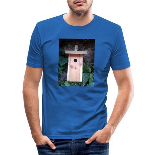 Der Nistkasten - Luxus für den Garten-Vogel - Männer Slim Fit T-Shirt