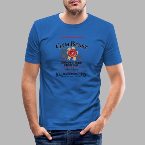 GYM BEAST - Männer Slim Fit T-Shirt