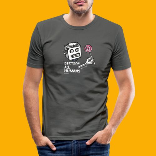 Dat Robot: Destroy Series Candy Dark - slim fit T-shirt