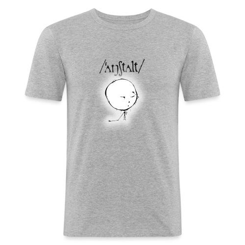 kreisling mit logo (schwarz) - Männer Slim Fit T-Shirt