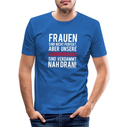 Frauen sind nicht perfekt - Männer Slim Fit T-Shirt