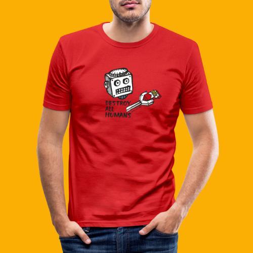 Dat Robot: Destroy Series Smoking Light - slim fit T-shirt