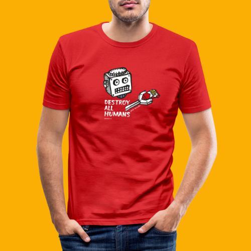 Dat Robot: Destroy Series Smoking Dark - slim fit T-shirt