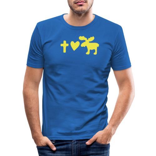 Glaube, Liebe, Elch! - Männer Slim Fit T-Shirt