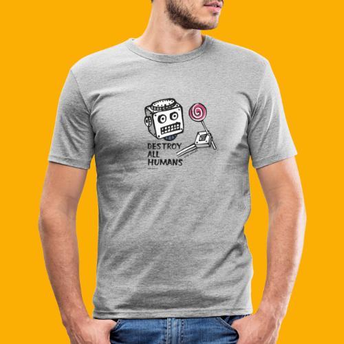 Dat Robot: Destroy Series Candy Light - Mannen slim fit T-shirt