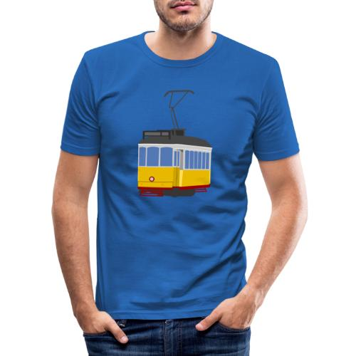 Tram car yellow - Men's Slim Fit T-Shirt