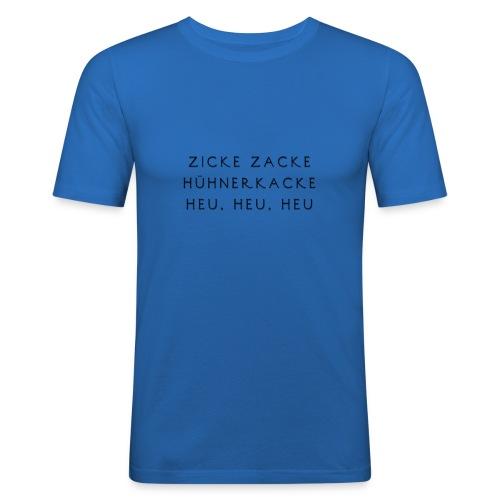Fun Motiv Hühnerkacke - Männer Slim Fit T-Shirt