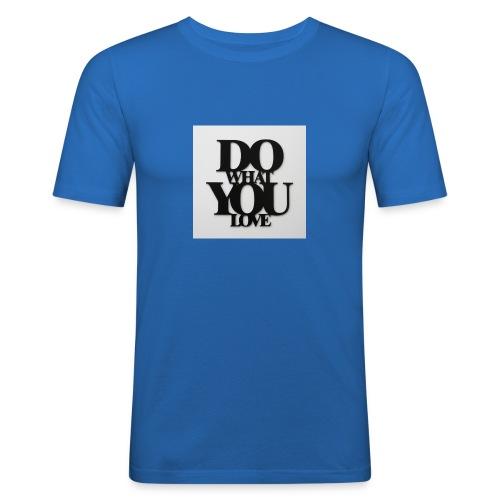 napis-na-sciane-do-what-you-love-czarny-jpg - Obcisła koszulka męska