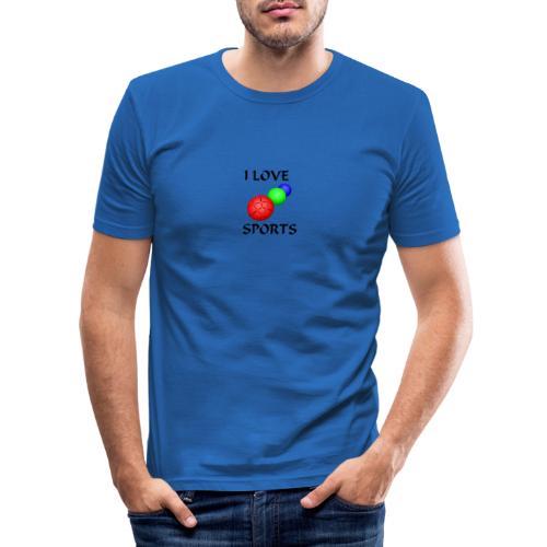 I LOVE SPORTS Amantes del deporte - Camiseta ajustada hombre