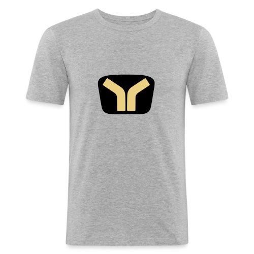 Yugo logo colored design - Men's Slim Fit T-Shirt