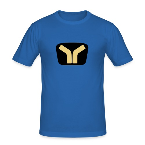 Yugo logo colored design - Men's Slim Fit T-Shirt