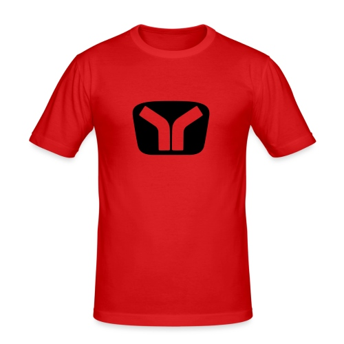 Yugo Logo Black-Transparent Design - Men's Slim Fit T-Shirt