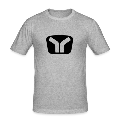 Yugo Logo Black-Transparent Design - Men's Slim Fit T-Shirt