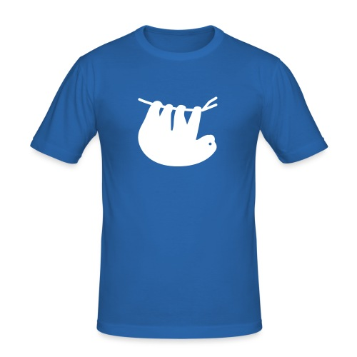 Lazy Slothbert - Männer Slim Fit T-Shirt