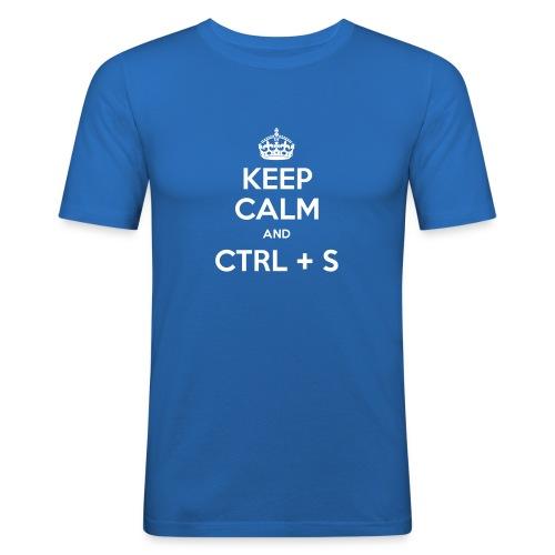 Keep Calm and CTRL+S - T-shirt près du corps Homme