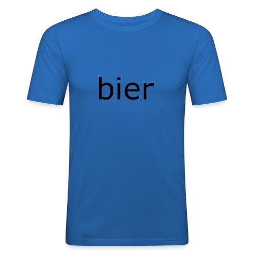 bier - Mannen slim fit T-shirt