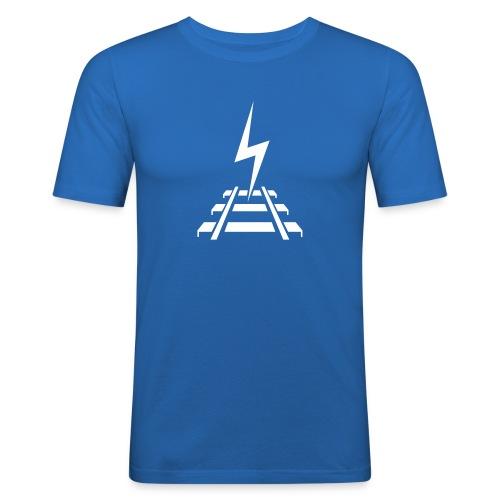 Logo Bahnstromer v9 6 2 - Männer Slim Fit T-Shirt