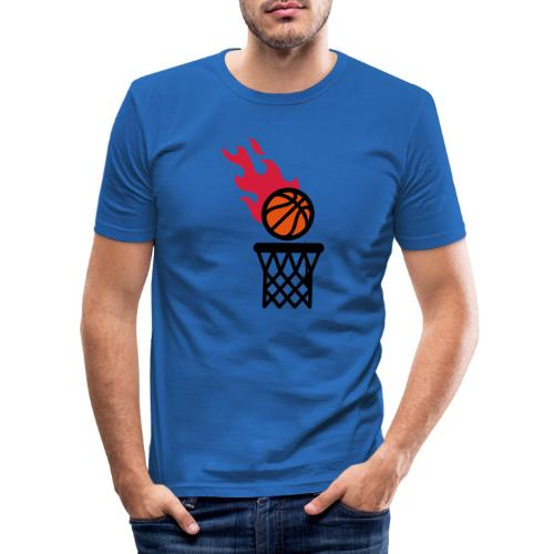 fire basketball - Men's Slim Fit T-Shirt