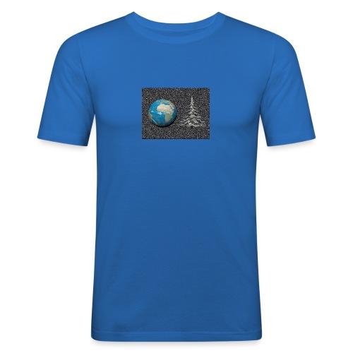 world_christmas3 - T-shirt près du corps Homme