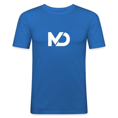 logo_wit - Mannen slim fit T-shirt
