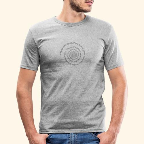 SPIRAL TEXT LOGO BLACK IMPRINT - Men's Slim Fit T-Shirt