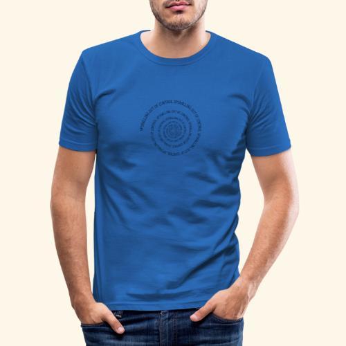 SPIRAL TEXT LOGO BLACK IMPRINT - Men's Slim Fit T-Shirt
