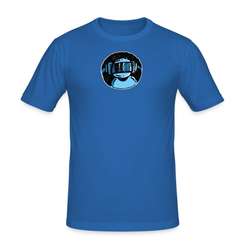 Machine Boy Blue - Men's Slim Fit T-Shirt