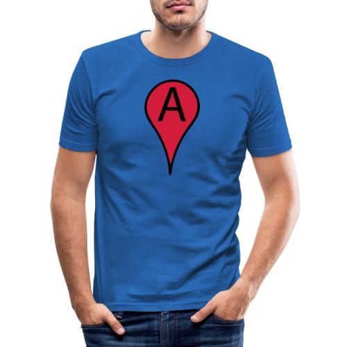 ik ben hier - Mannen slim fit T-shirt