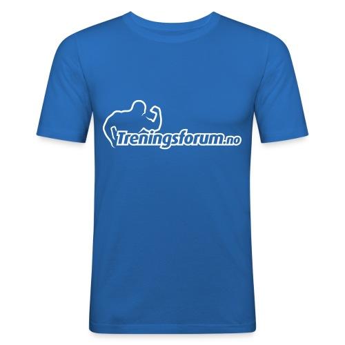spreadshirt logo hvit png - Slim Fit T-skjorte for menn