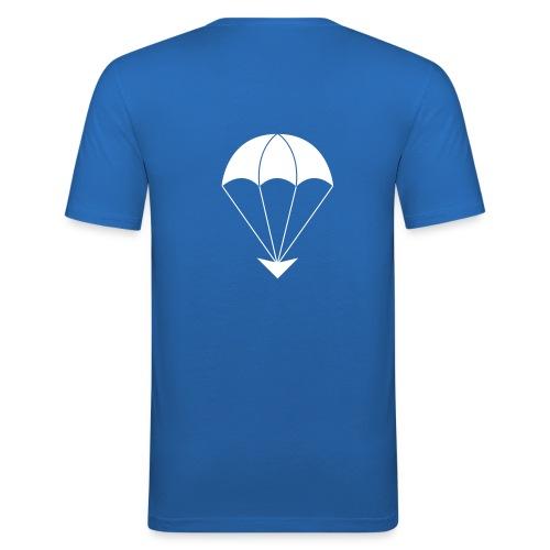 GA Fallschirm schwarzFlock - Männer Slim Fit T-Shirt