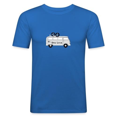 One Love Unicycle Van - Men's Slim Fit T-Shirt
