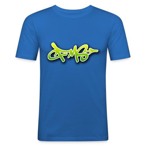 FMS Logo Green - Männer Slim Fit T-Shirt
