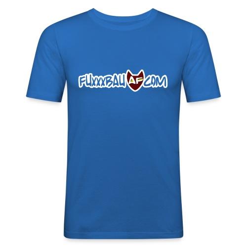 fuxxxbau mit logo weiss - Männer Slim Fit T-Shirt