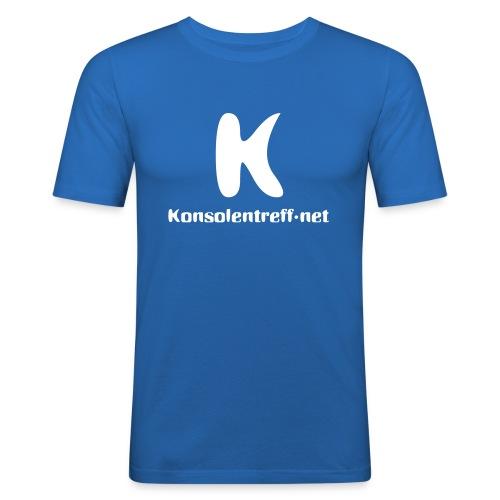 Logo vorne gross - Männer Slim Fit T-Shirt
