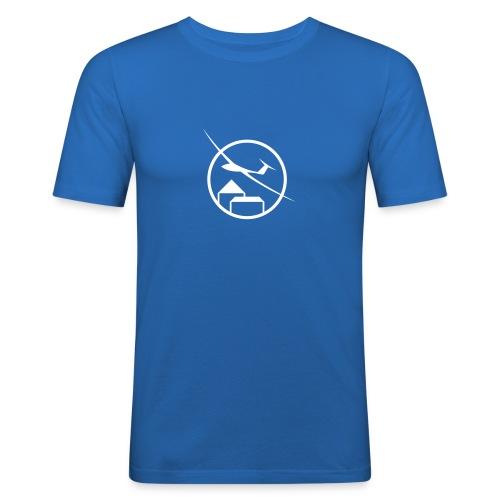 fc logo white single v1 - Männer Slim Fit T-Shirt