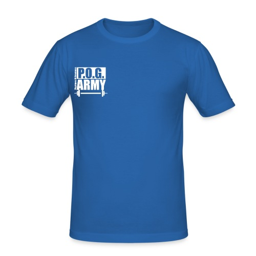 POG Army White - Men's Slim Fit T-Shirt