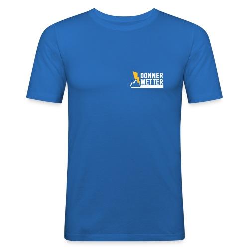 Donnerwetter de Logo klein - Männer Slim Fit T-Shirt