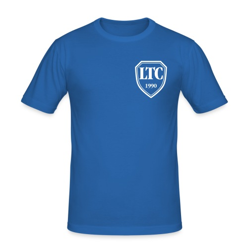ltc banner 70mm - Männer Slim Fit T-Shirt