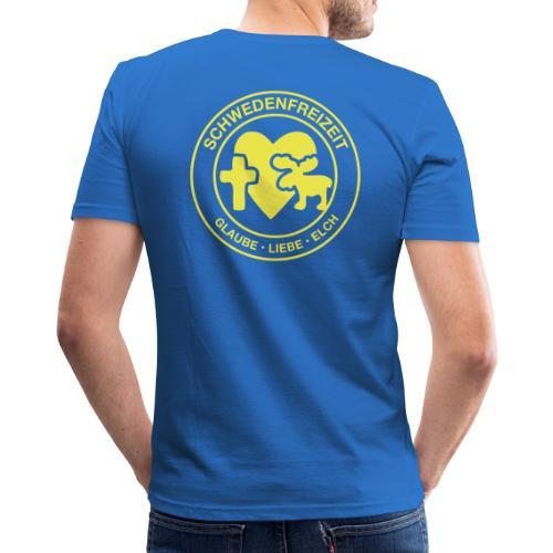 Schwedenfreizeit Logo - Männer Slim Fit T-Shirt