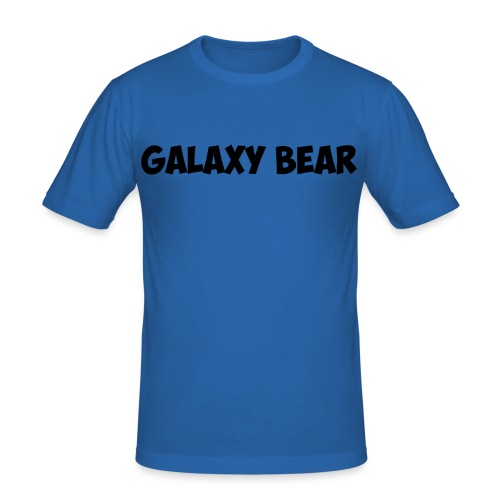 Galaxy Bear Black png - Men's Slim Fit T-Shirt
