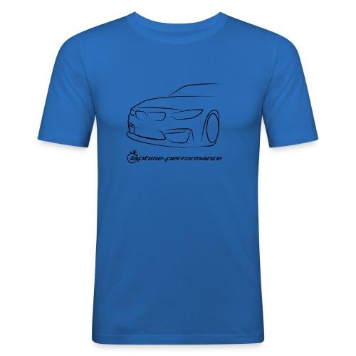 F80M3 snapback mlogo png - Männer Slim Fit T-Shirt