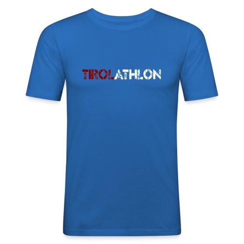 tirolathlonSchriftzug - Männer Slim Fit T-Shirt