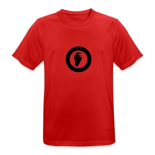 fjellgeiteneno symbol - Pustende T-skjorte for menn
