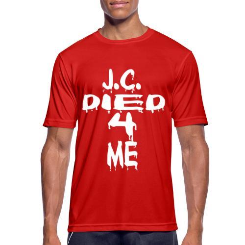 J.C.Died 4 Me - Cross - Männer T-Shirt atmungsaktiv