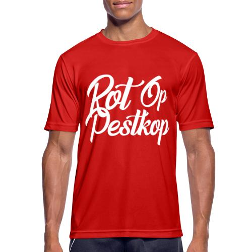Rot Op Pestkop - Curly White - Mannen T-shirt ademend actief